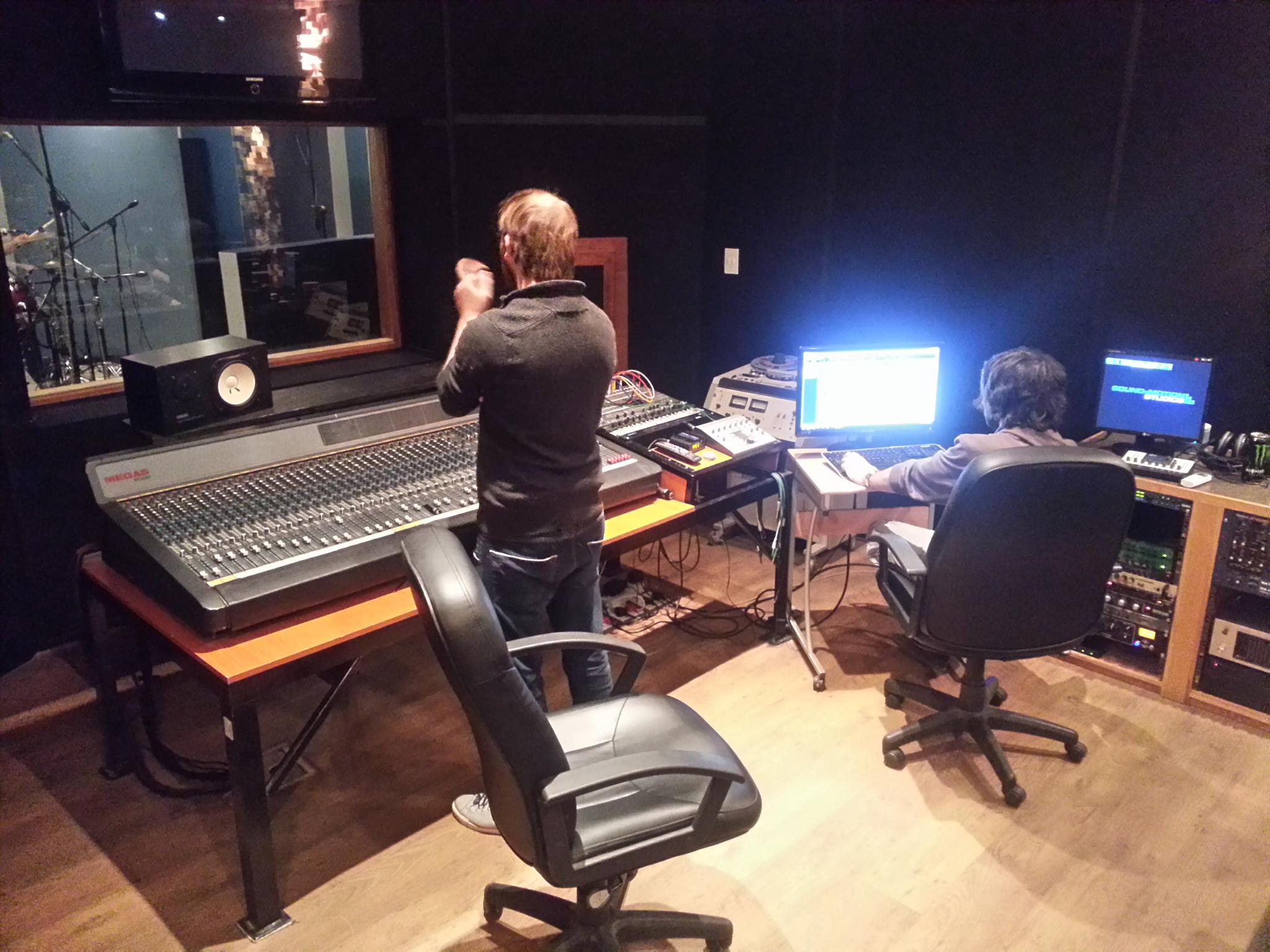 Band recording at Sound and Motion Studios Johannesburg